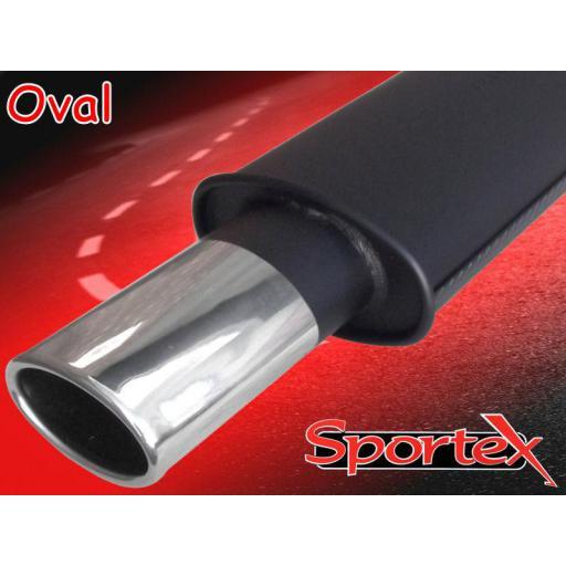Sportex Peugeot 106 1.1 1.4 performance exhaust system 2000-2004 OV