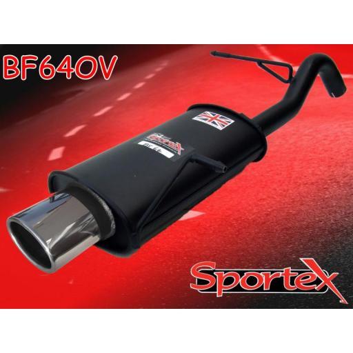 Sportex Ford Fiesta exhaust back box 1.6i 2008- OV