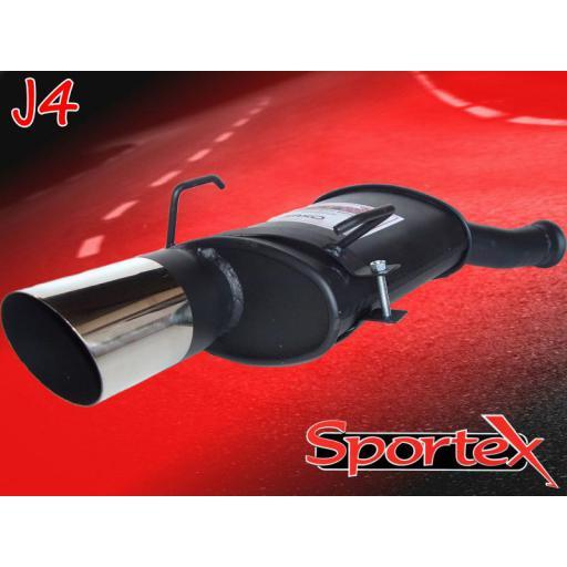 Sportex Citroen Saxo performance exhaust back box 1.1 1.4 2000-2003 J4