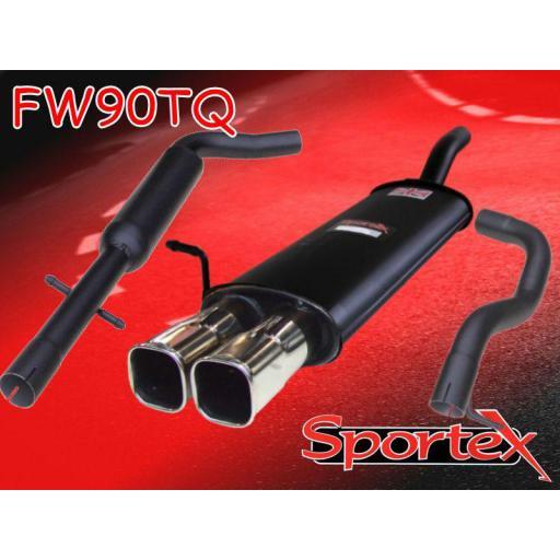 Sportex VW Golf mk4 performance exhaust system 1997-2004 TSQ