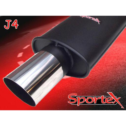 Sportex Honda Civic saloon performance exhaust system 1991-2001- J4