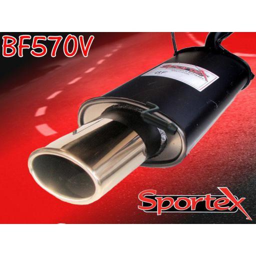 Sportex Ford Puma exhaust back box 1.7i 1997-2001 OV