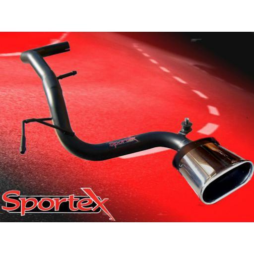 Sportex VW Lupo 1.0i 1.4i CENTRE exit tailpipe 1998-2004 BX