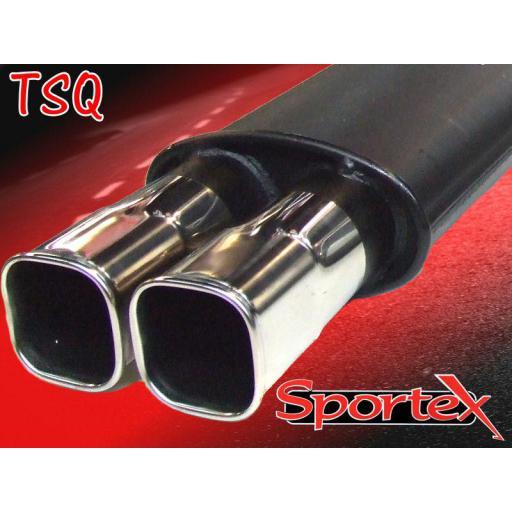 Sportex Ford Fiesta exhaust back box 1.25i, 1.3i, 1.4i 2002-2008 TSQ