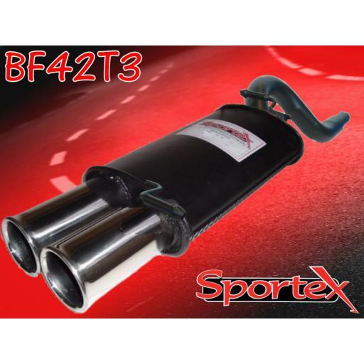 Sportex Ford KA exhaust back box 1.3i 1996-2008 T3