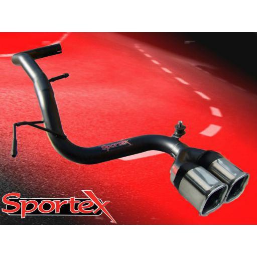 Sportex VW Lupo 1.0i 1.4i CENTRE exit tailpipe 1998-2004 TSQ