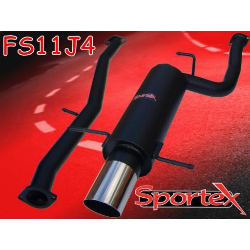 Sportex Subaru Impreza turbo exhaust system 2001-2005 J4