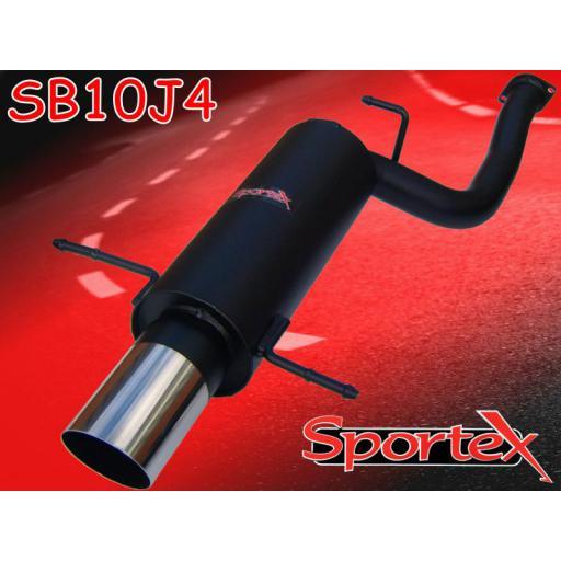 Sportex Subaru Impreza turbo exhaust back box 1994-2000 J4