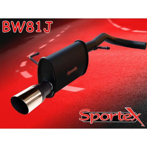 Sportex VW Lupo 1.0i 1.4i exhaust back box 1998-2004 J3.5