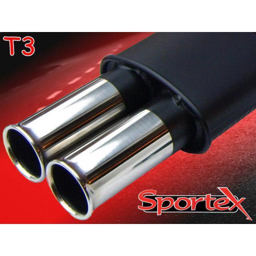 Sportex Peugeot 307 exhaust back box 2.0i XSi 2001-2008 T3