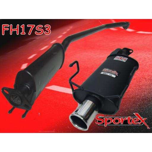 Sportex Honda Civic Type R performance exhaust system EP3 2001-06 S3