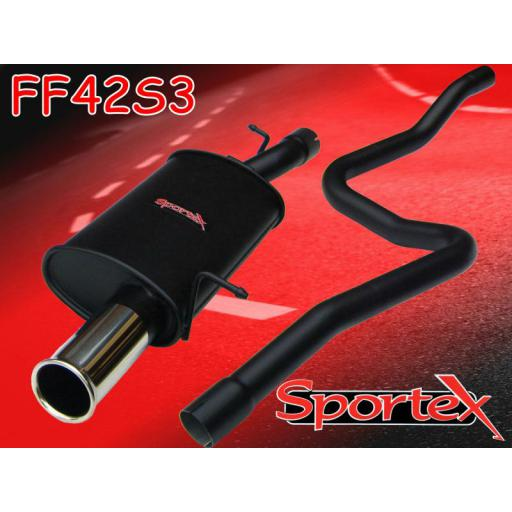 Sportex Ford Fiesta ST150 performance exhaust system 05-08 S3