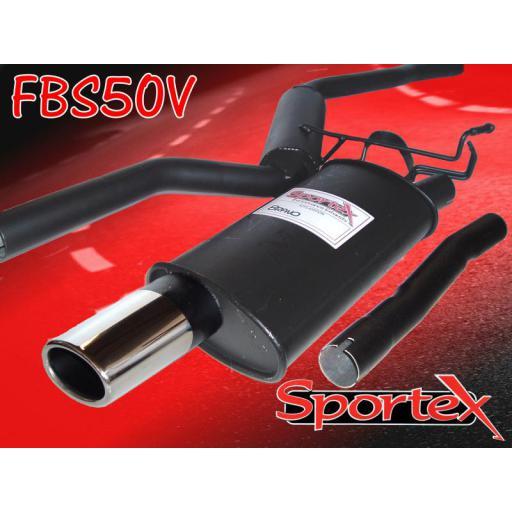Sportex Fiat Bravo performance exhaust system 1.6i 1995-1998 OV
