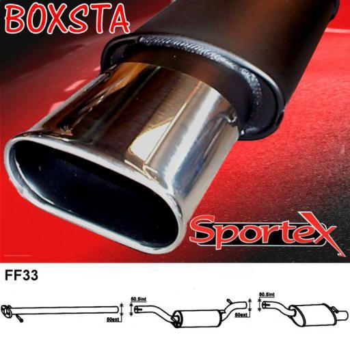 Sportex Ford Focus performance exhaust system 1.8i 2.0i 1998-2004 BX