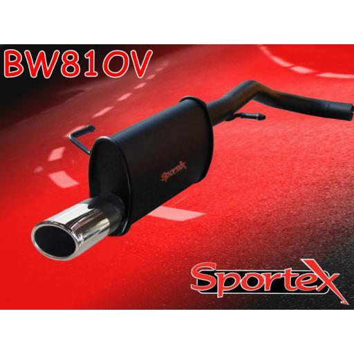 Sportex VW Lupo 1.0i 1.4i exhaust back box 1998-2004 OV
