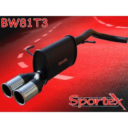 Sportex VW Lupo 1.0i 1.4i exhaust back box 1998-2004 T3