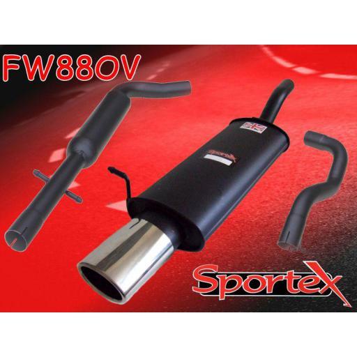 Sportex VW Golf exhaust system mk4 1997-2004 OV