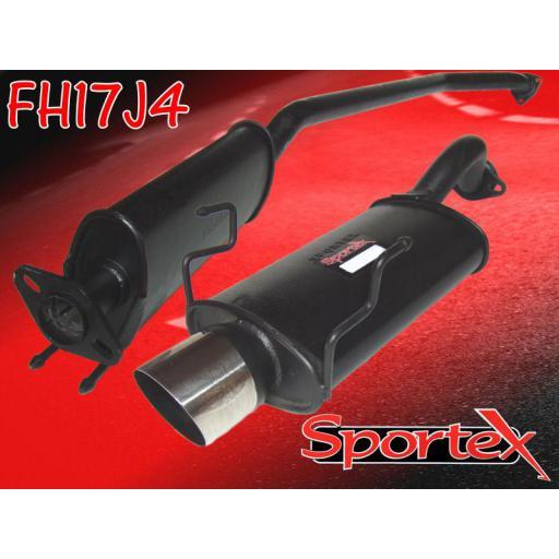 Sportex Honda Civic Type R performance exhaust system EP3 2001-06 J4