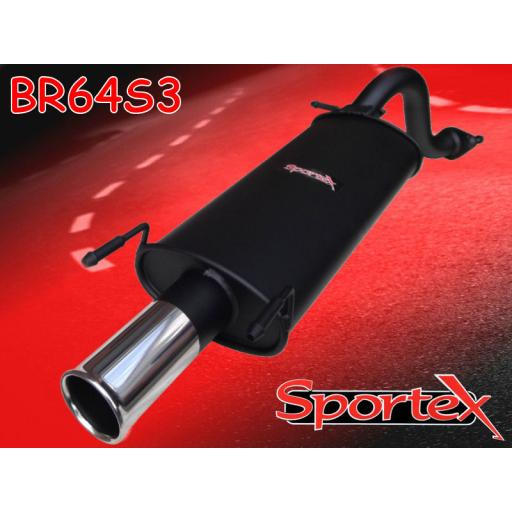 Sportex Rover 25 performance exhaust back box 1999-2005 S3