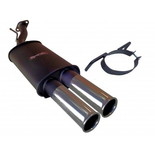 Sportex Vauxhall Astra mk4 turbo coupe exhaust back box 2000-2004 T3
